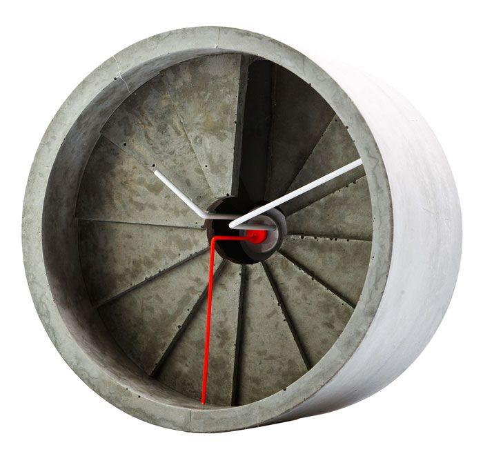 22designstudio 4th Dimension Concrete Wall Clock - Red | the OBJECT ROOM