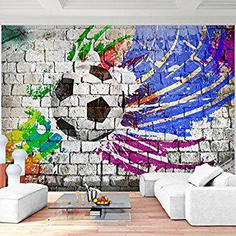 Fototapete Fussball 352 X 250 Cm Vlies Wand Tapete Wohnzimmer Schlafzimmer  Büro Flur Dekoration Wandbilder XXL