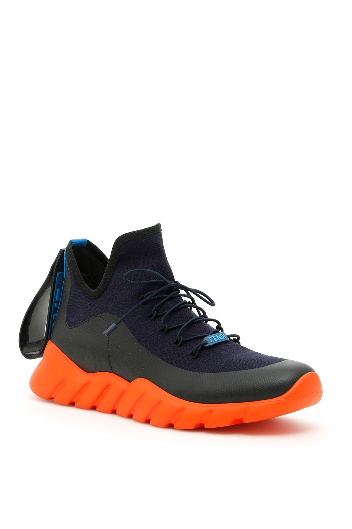 FENDI KNIT SNEAKERS WITH RUBBER FILM