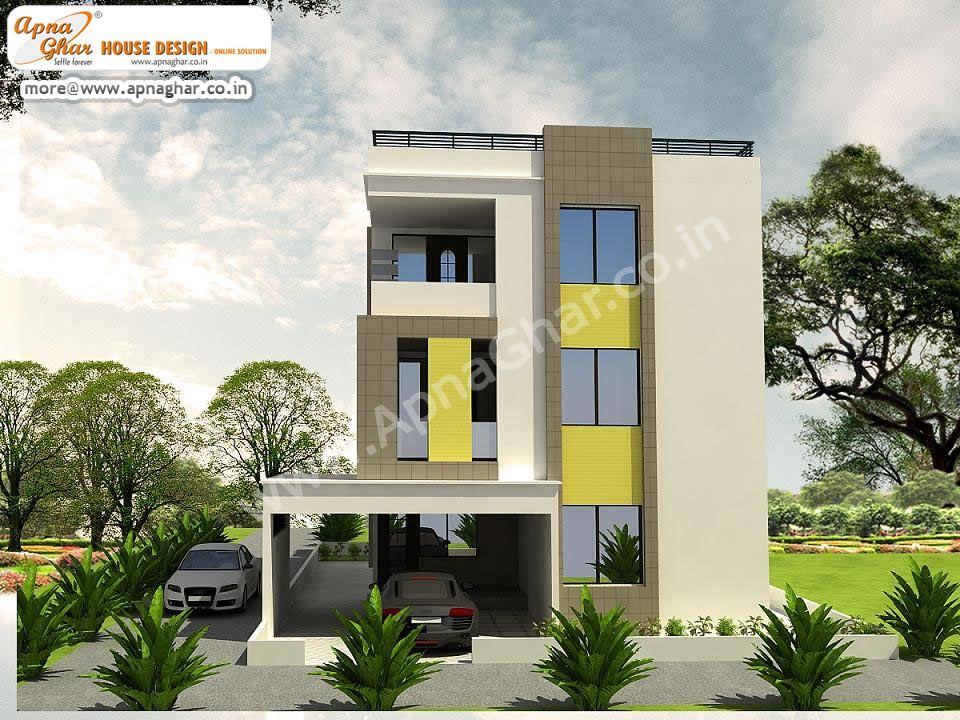 5 Bedroom Modern Triplex 3 Floor House Design Area