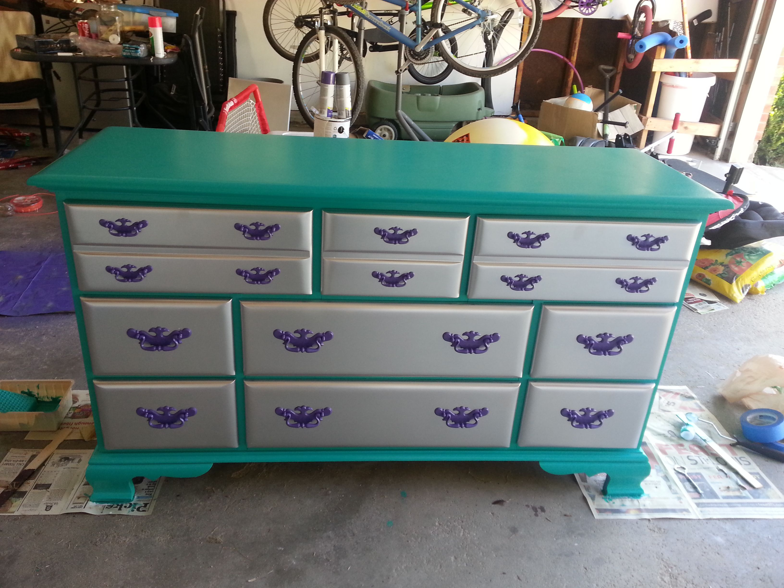 Pink And Green Dresser