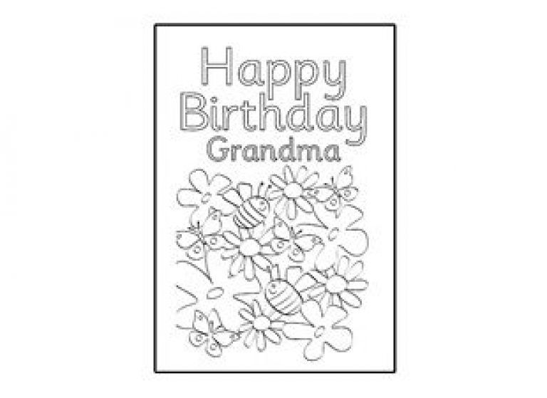 Birthday Card Design Template Happy Birthday Grandma Ichild