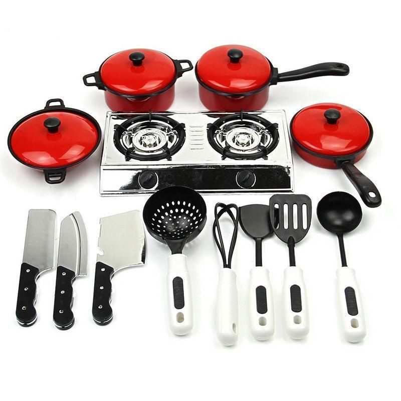 1//12 Kitchenware Cookware Set for Dolls House Miniature Home Kitchen Accessory Shovel four pieces R SODIAL