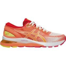 Photo of Asics Women's Running Shoes Gel-Nimbus 21 Shine, Size 40 In White / sun Coral, Size 40 In White / sun Coral