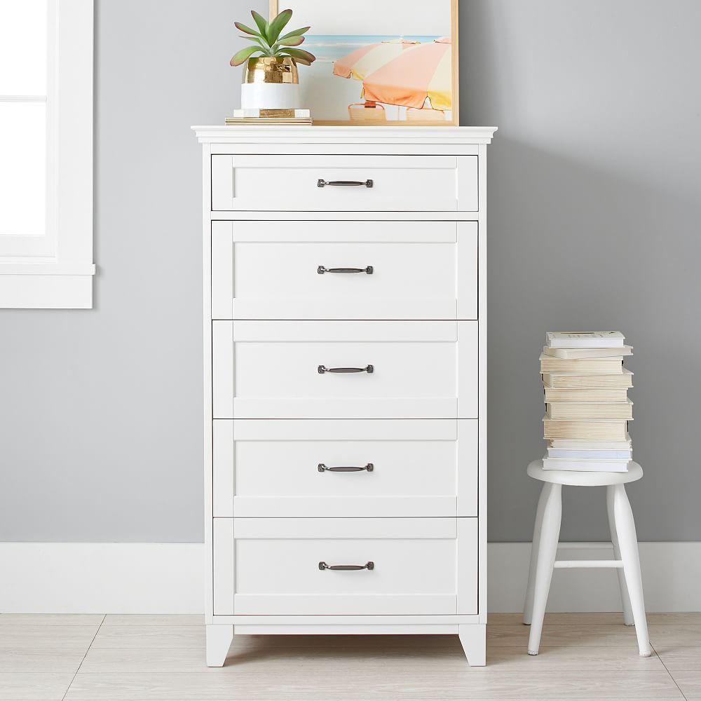 Hampton 5 Drawer Tall Dresser Simply White Tall Dresser Decor Tall Dresser Tall White Dresser [ 1000 x 1000 Pixel ]