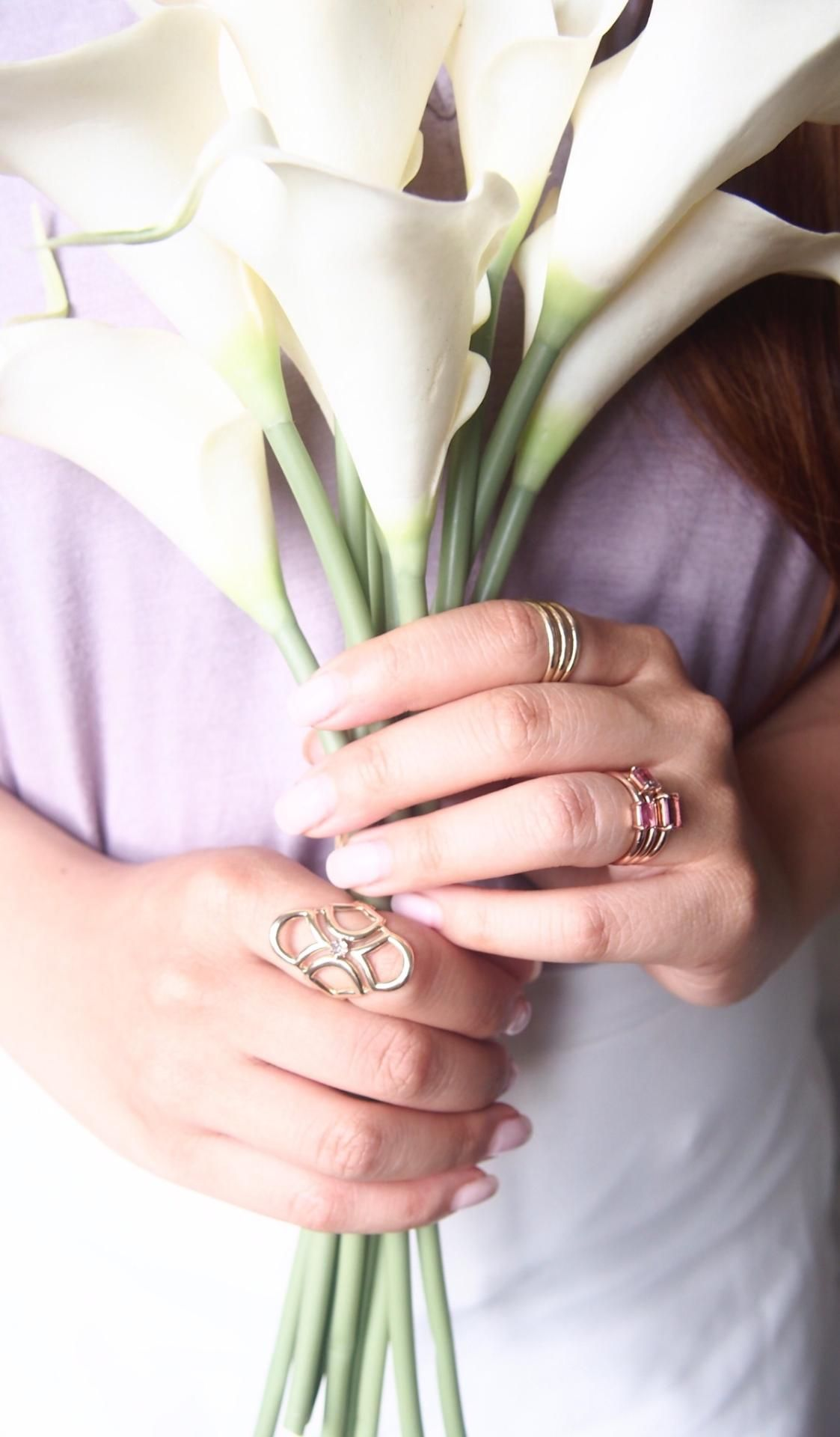 Wearing multiple rings is the perfect way to accessorize