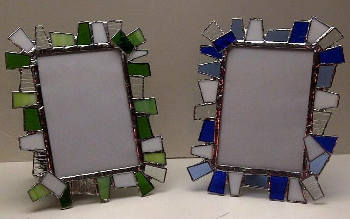 Chunky Stained Glass Picture Frame 5 X 7 F4 By Terrazastainedglass