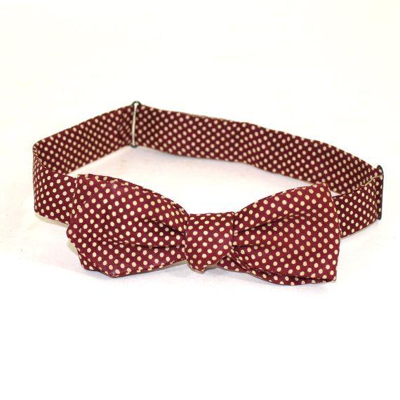 Polka Dot Vintage Silk Bow Tie by J Press Co by SugarLMtnAntqs