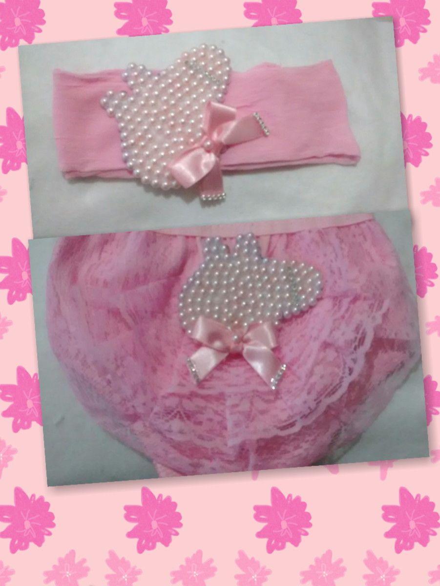 lindo kit de calcinha bunda rica com babados em renda e tecido 100% algodão  customizada d3c84c2d0f8