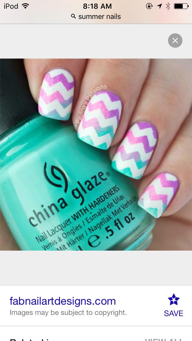 Pin by Steph_klam🏀 on Summer nails | Pinterest | Makeup, Nail nail ...