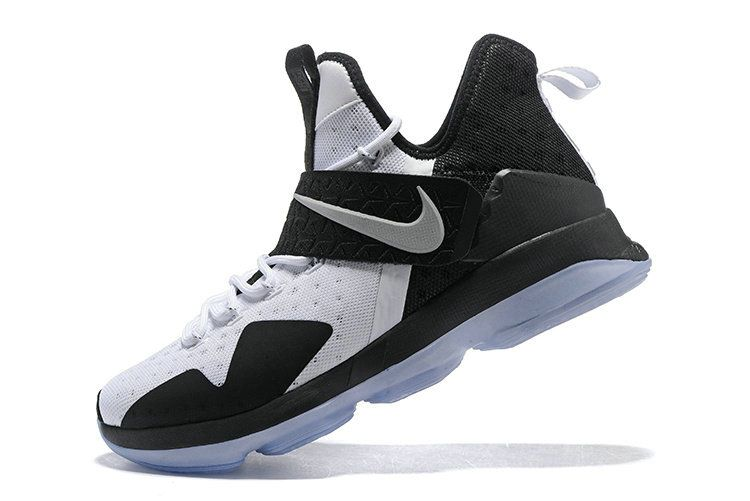 New 2018 LeBron 14 XIV Shoes 2018 White Black Silver