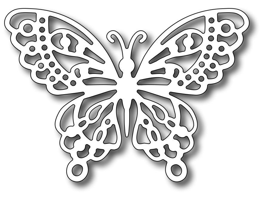 Frantic Stamper - Precision Dies - Monarch Butterfly | Wycinanki ...