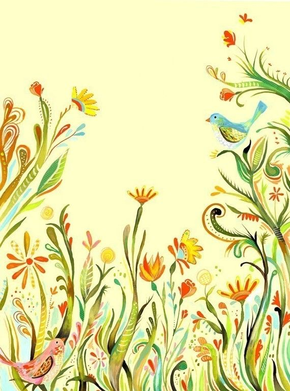 Garden Party watercolor paper print | Spring Wall Art | Katie Daisy ...