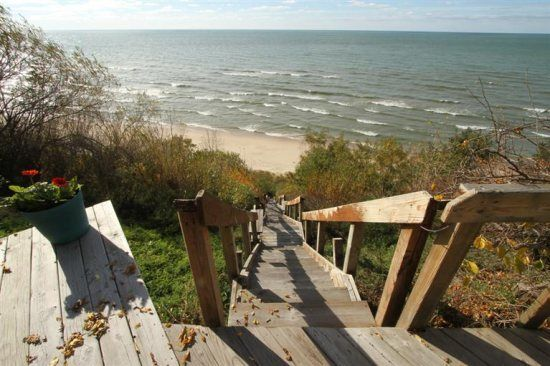 Amalfi Cottage - Sleeps 6. This cottage sits just steps from the edge of the bluffs of Lake Michigan.