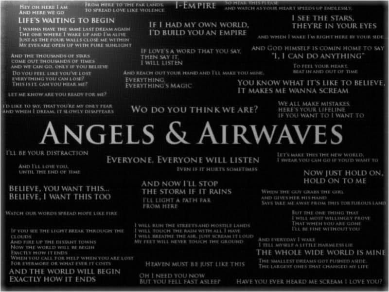 Angels And Airwaves | Quotes | Pinterest | Angel, Music lyrics and ...