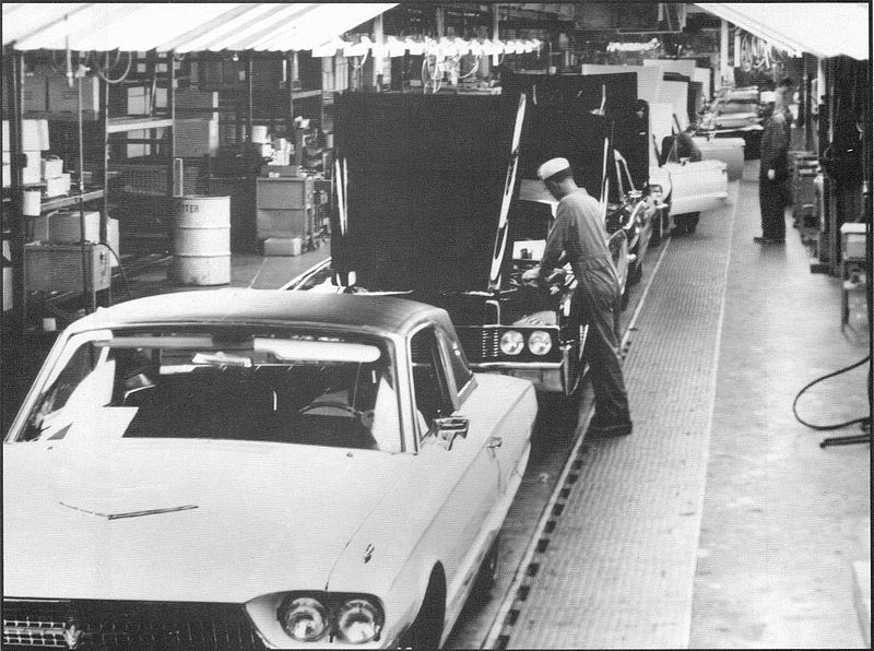 A Thunderbird And Lincoln Receive Some Final Touches On The