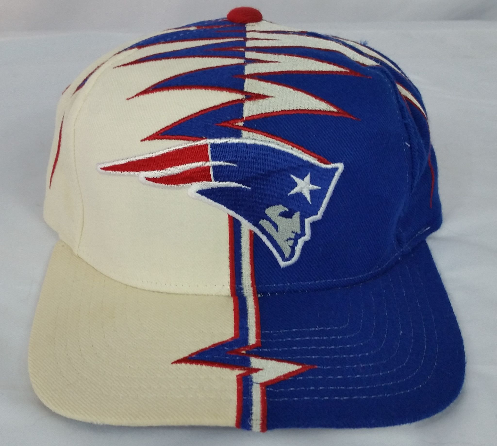 904e1d8ed89f0 New England Patriots Vintage Strapback Starter Shockwave Hat NFL Snapback  Rare