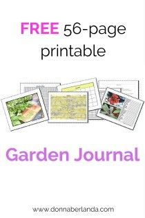 Get this FREE 56-page Garden Journal