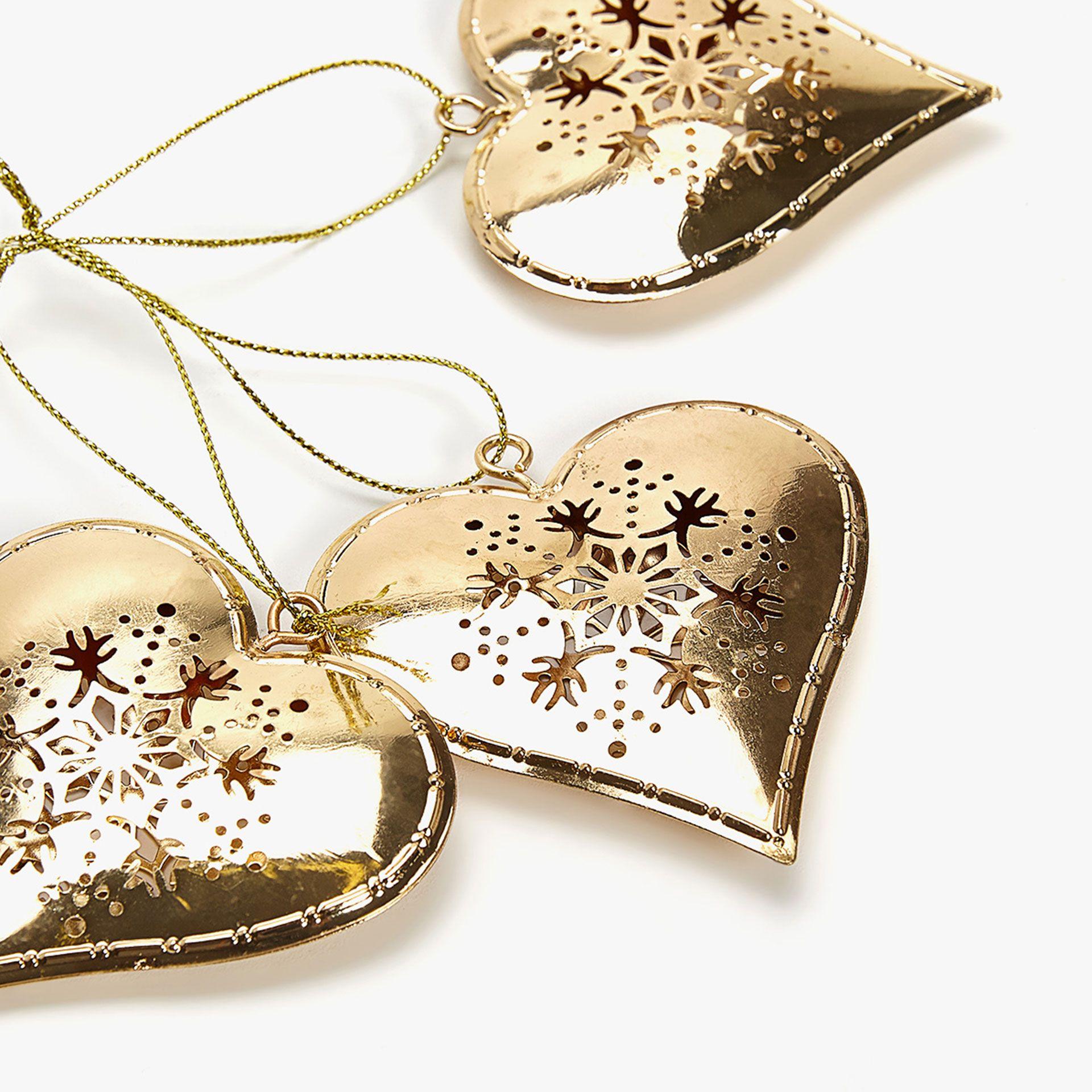 Hanging Gold Heart Decoration Rsd899 00 Ref 4908 060 Heart Decorations Zara Home Heart Ornament