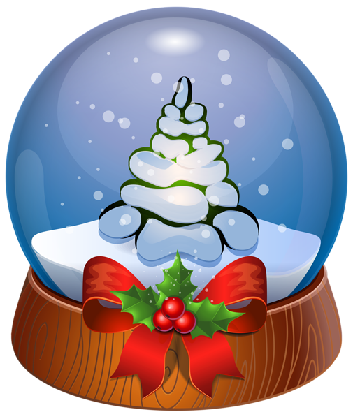 Christmas Tree Snow Globe Transparent PNG Clip Art Image