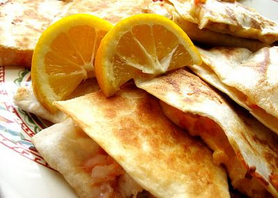 Shrimp quesadillas... why didn't I think of that?