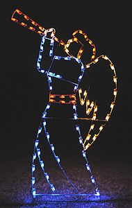 Angels Lighted Outdoor Christmas Decorations Large Christmas Angel ...