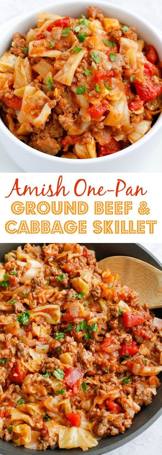 Amish One-Pan Ground Beef and Cabbage Skillet images