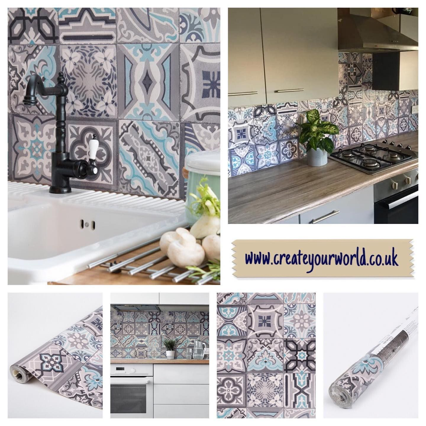 Kitchen Splashback On A Roll Using This 3d Thick Wallpaper That S Both Durable And Waterproof When Sealed Can Be Splashback Splashback Tiles Thick Wallpaper