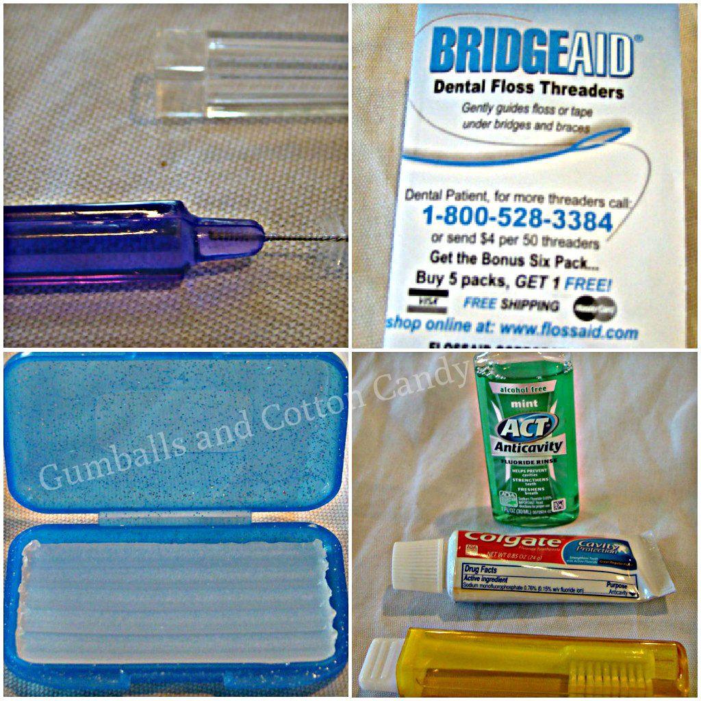 Ortho Dental Hygeine Kit Great for lockers or on the go