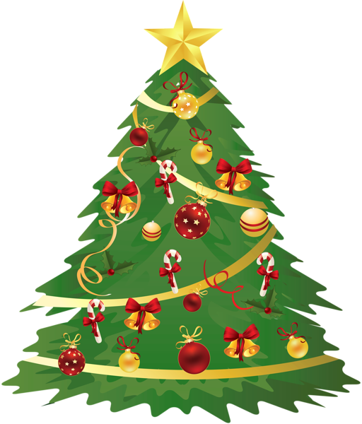Large Transparent Christmas Tree With Ornaments And Candy Canes Clipart Christmas Tree Clipart Christmas Tree Ornaments Very Merry Christmas