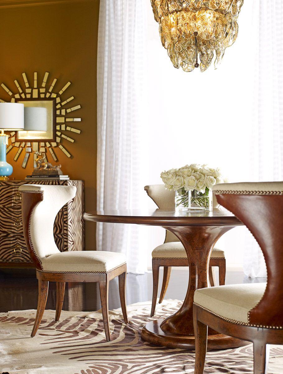 Bon Atlas Table, Hourglass Chairs, Retro Chic