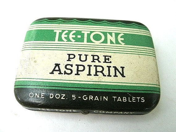Vintage Aspirin Advertising Tin -Tee Tone Tablets
