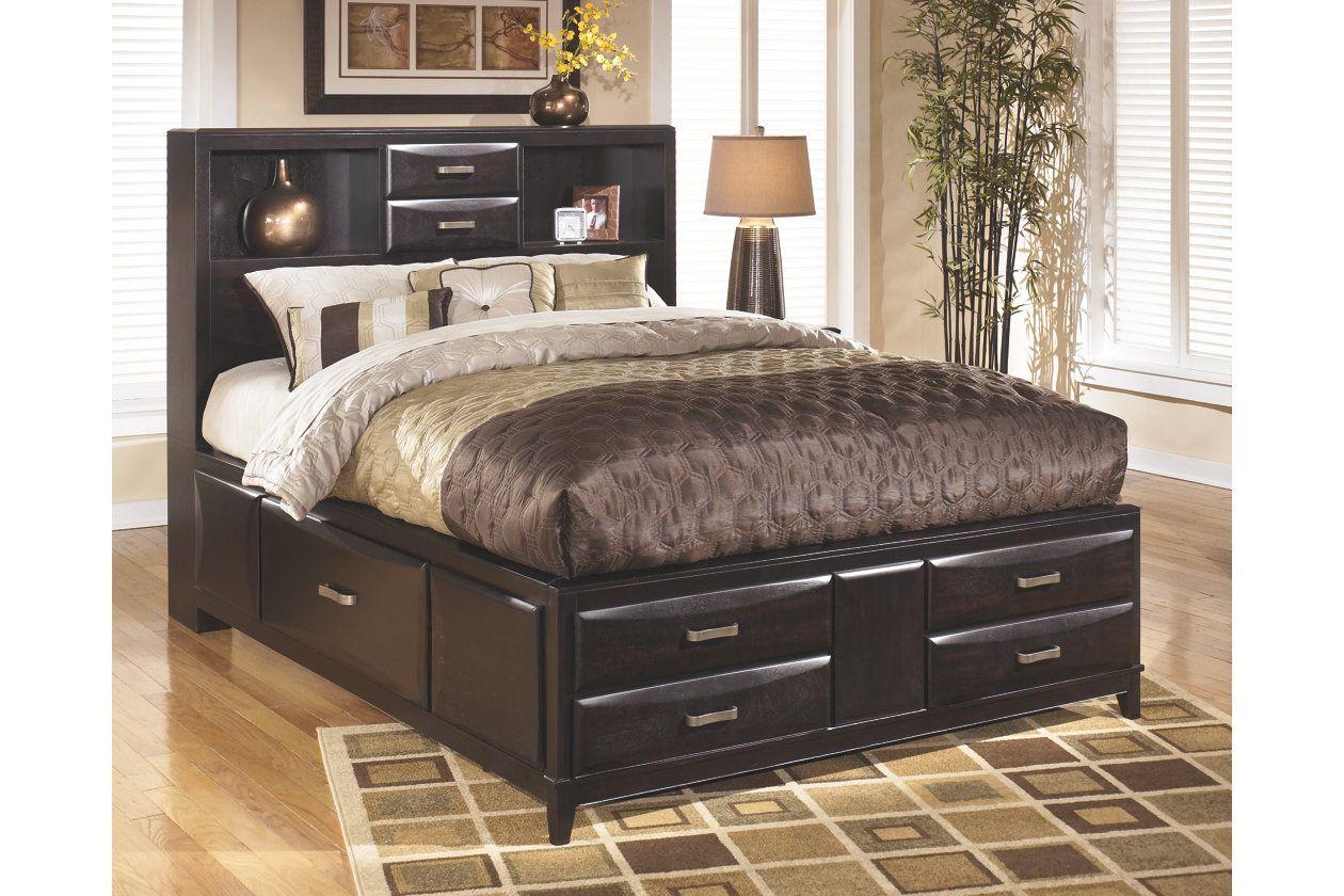 Kira Queen Storage Bed Ashley Furniture Homestore Storage Bed