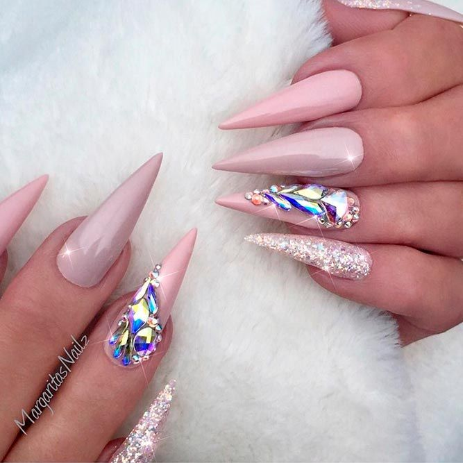 21 Fab And Stylish Nude Stiletto Nails To Be In Trends Luxurious Long Stilettos Picture 1 Never Go Out