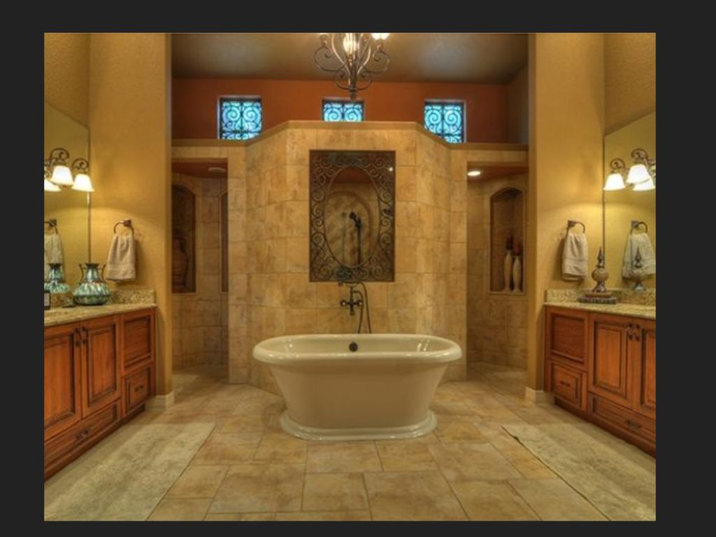 Walk In Shower Behind Tub Farmhouse Master Bathroom Master