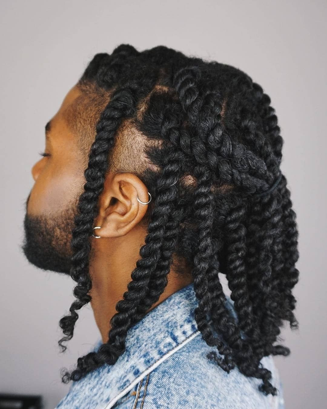 Twisted Mens Braids Hairstyles Hair Twist Styles Natural Hair