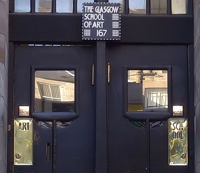 Renfrew Street entrance of Glasgow School of Art & Renfrew Street entrance of Glasgow School of Art | Mackintosh ...