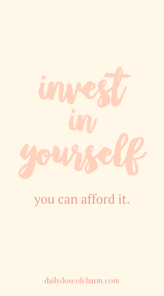 Invest In Yourself You Can Afford It Sunday Quotes On