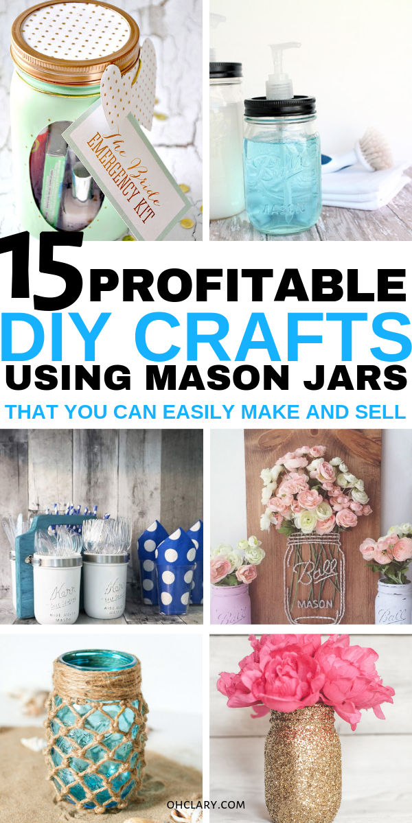 15 Mason Jar Crafts To Make And Sell For Extra Money. I love making…