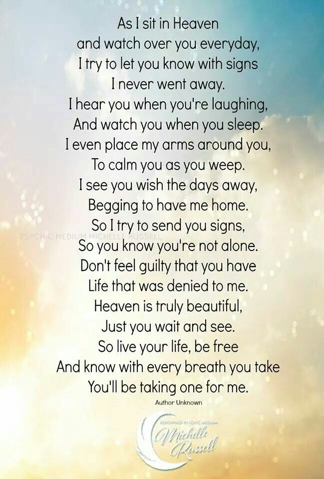 As I Sit In Heaven Inspirational Sayingsprintables Pinterest