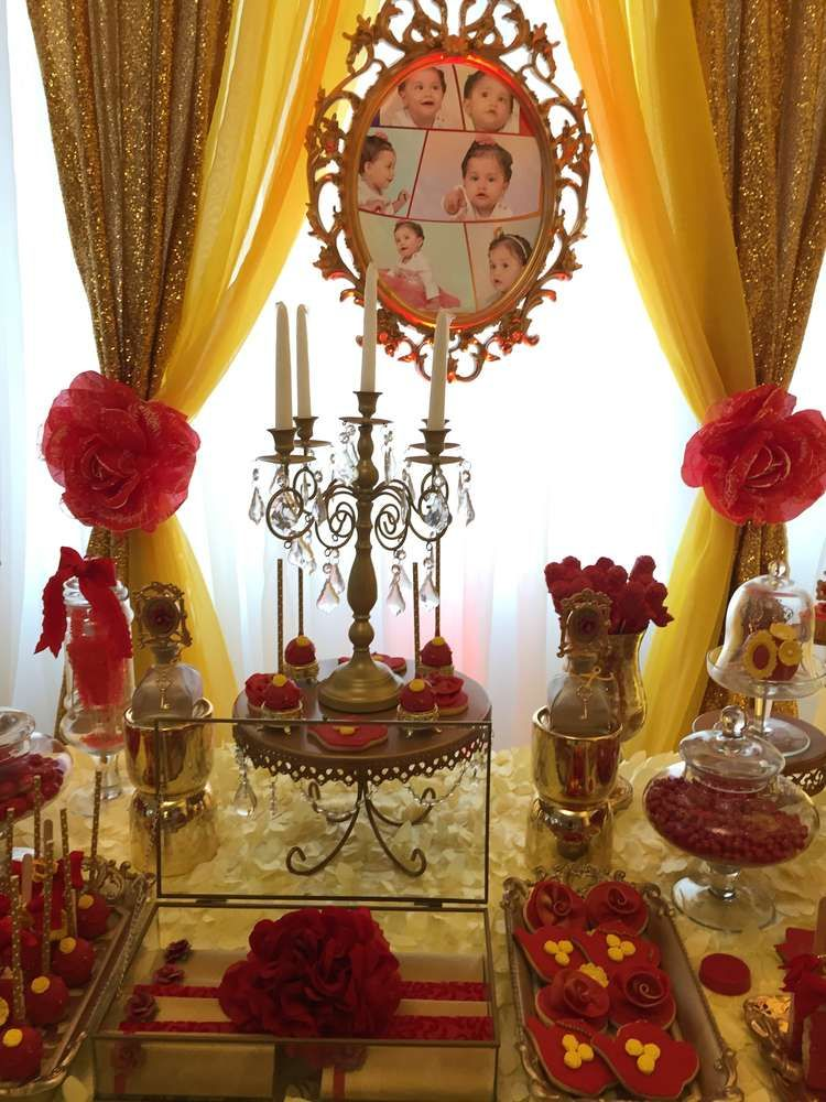 Princess Belle Decorations Awesome Princess Bell Birthday Party Ideas  Princess Belle Belle And Design Decoration