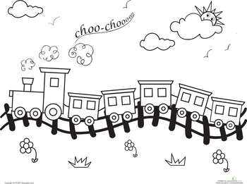 Worksheets Choo Train Coloring Page