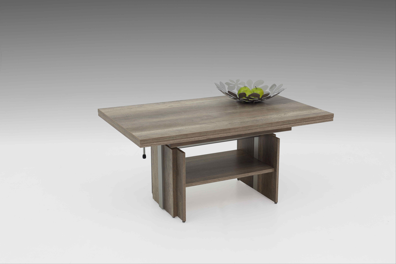 couchtisch h henverstellbar mit lift monument oak. Black Bedroom Furniture Sets. Home Design Ideas