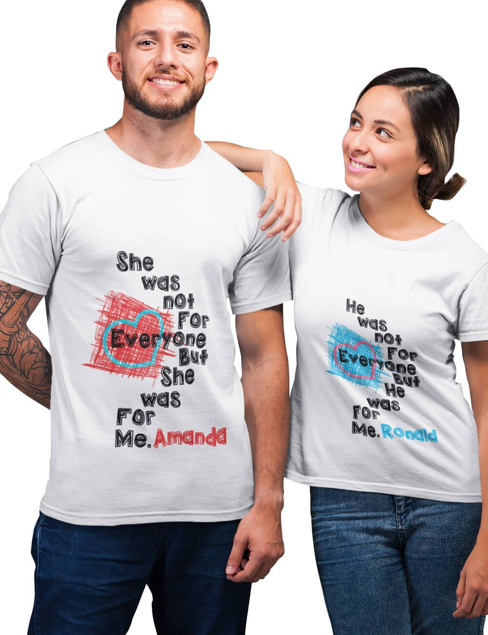 1b2428d2bc1d Matching Customized T-shirts For Couples in 2019 | Personalized ...
