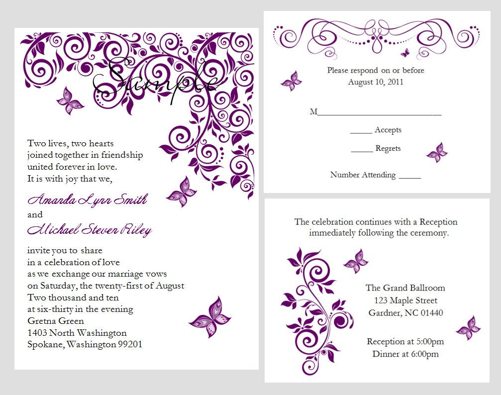 10 x Personalised Gretna Green Wedding Invitations