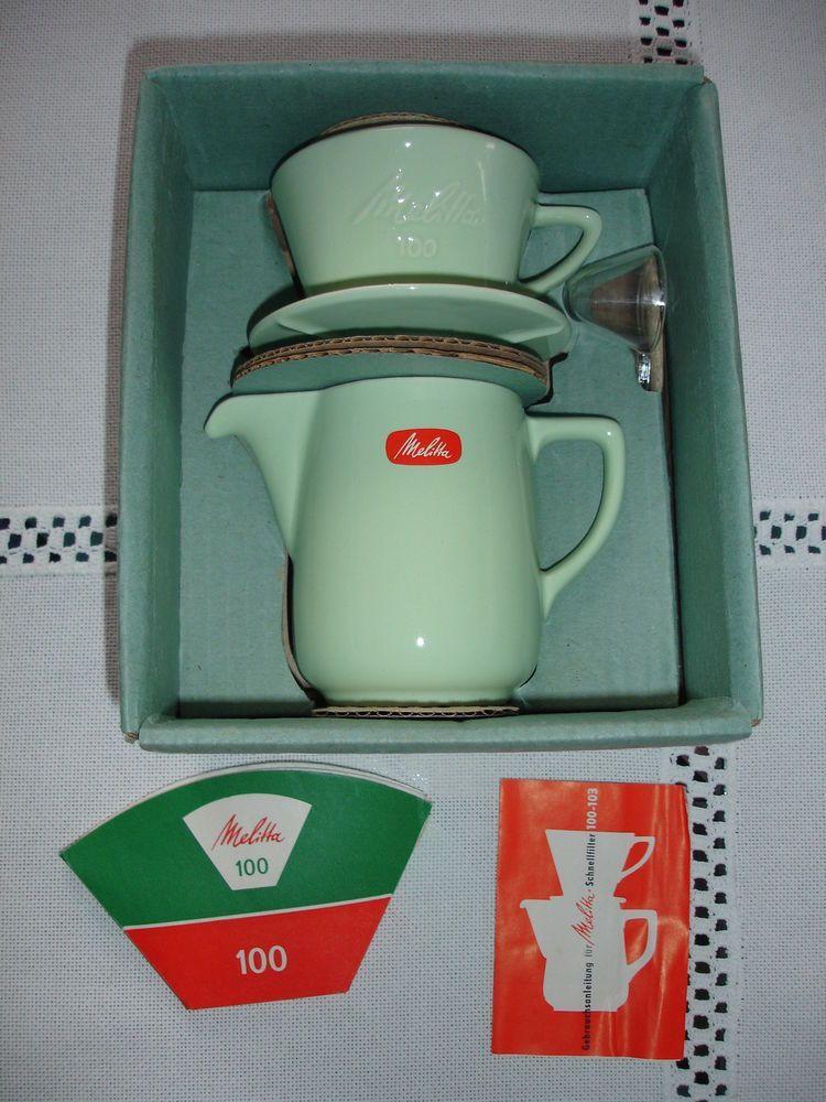 Melitta Minden Kaffee-Filka (Filter und Kanne) 100 mintgrün neu in OVP