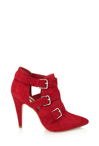 Buckled Faux Suede Booties | FOREVER 21 - 2055879945