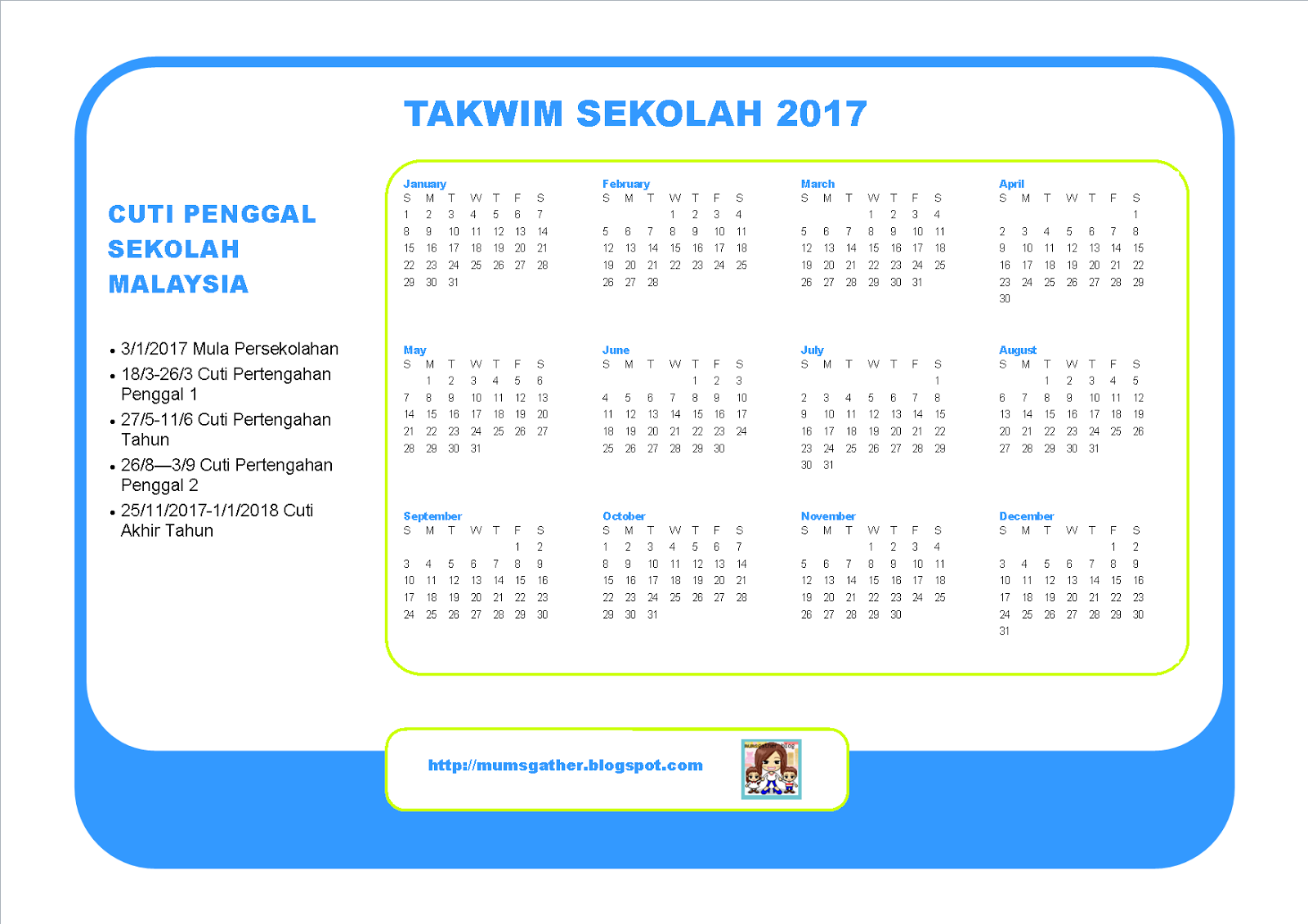 Malaysia School Holiday Calendar   Parenting Times  Malaysia
