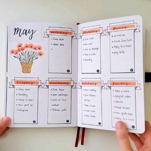 My May Bullet Journal flip-through 🌼🌼🌼