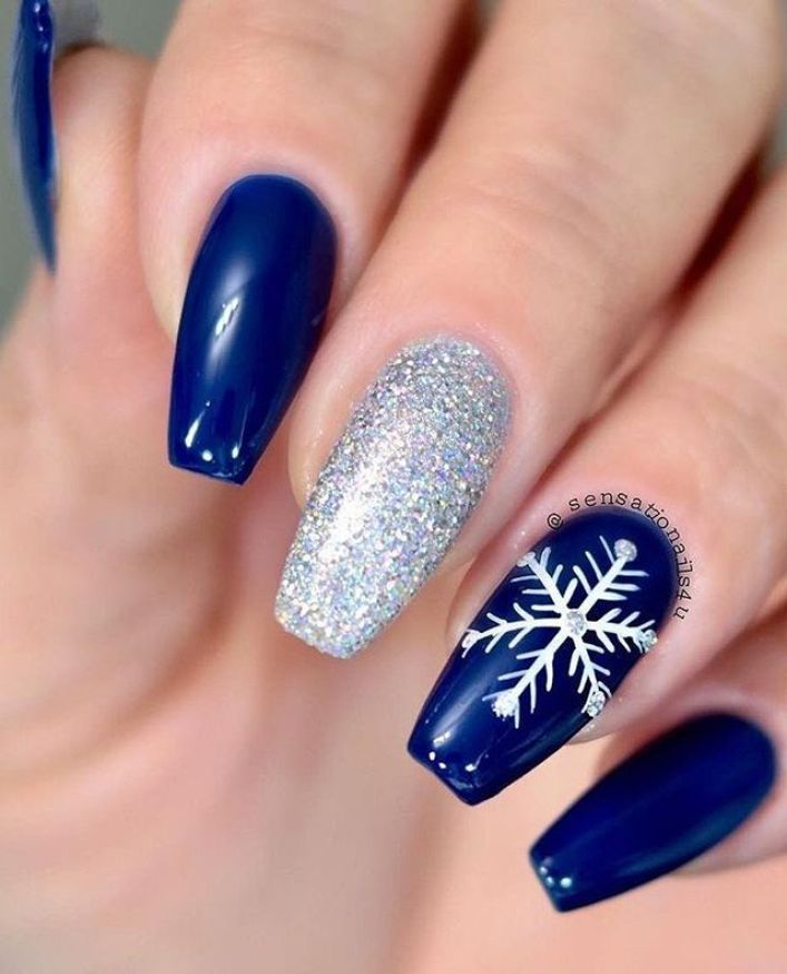 54 festive christmas nail art ideas, winter nail art ideas